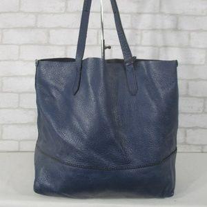 J.Crew Blue Leather Tote Hobo Shoulder Bag